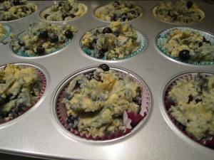Fill the muffin cups completely.