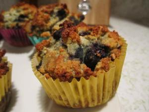 Gluten Free Organic Blueberry Coconut Superfood Muffin!