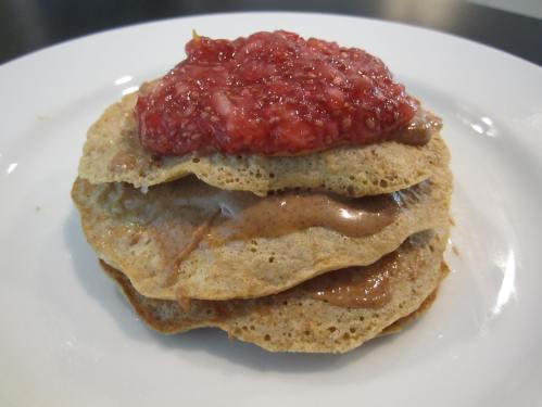 Protein Pancakes with Chia Refrigerator Jam