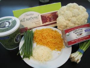 Twice Baked Cauliflower Ingredients
